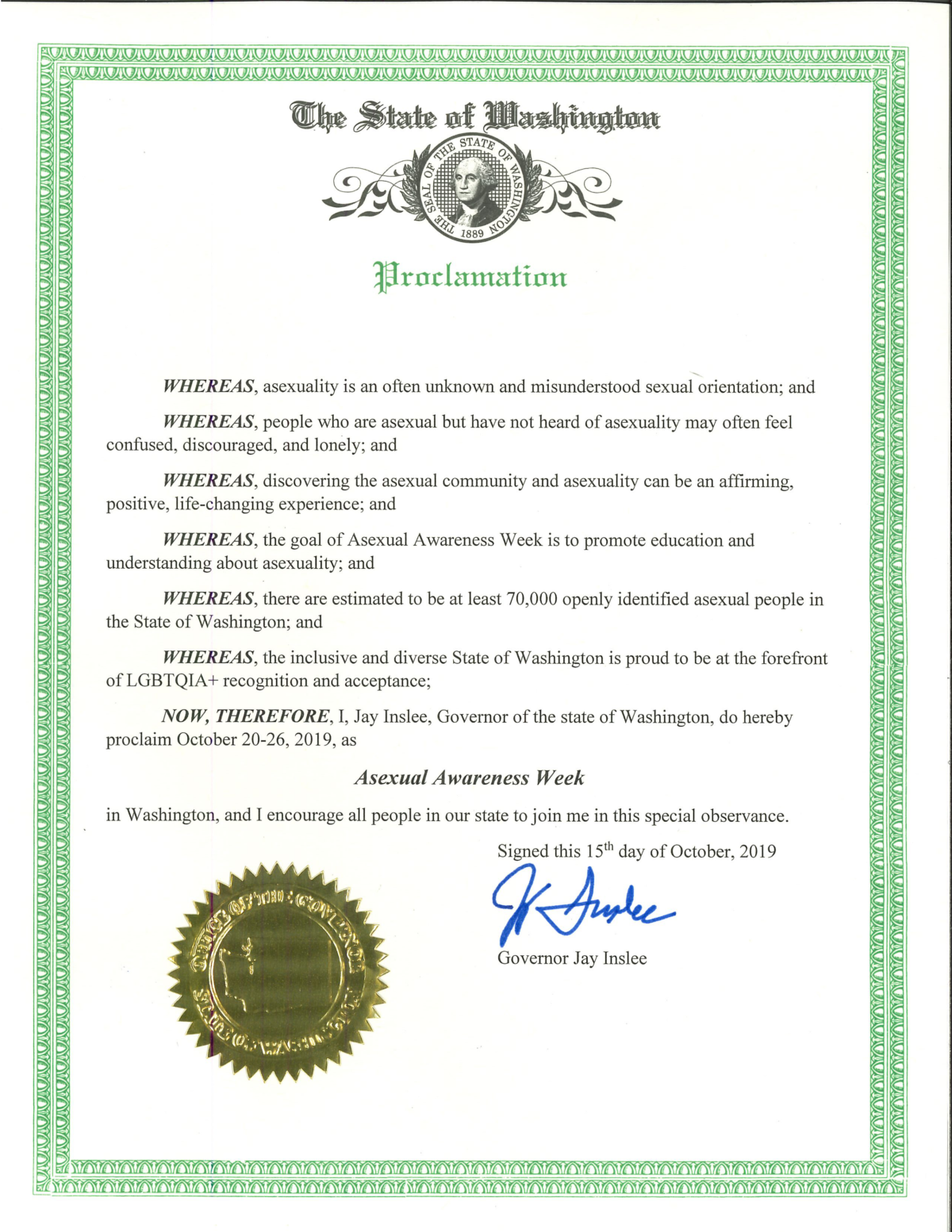 Washington Becomes First State to Recognize Asexual Awareness Week!